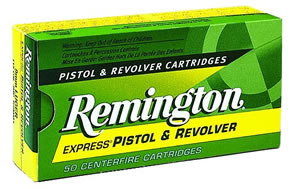 Remington Centerfire Pistol Cartridges R40SW1, 40 S&W, Jacketed Hollow Point, 155 GR, 1205 fps, 50 Rd/bx