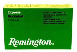 Remington Buckshot SP12HB 00, 12 Gauge, 3 in, 15 Pellets, 1225 fps, #00 Lead Buck Shot, 5 Rd/bx