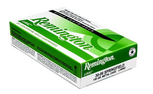 Remington UMC Rifle Ammunition L30RAR1, 30 Remington AR, Metal Case, 123 GR, 2800 fps, 20 Rd/bx