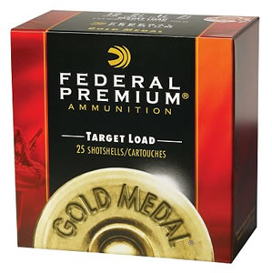 Federal Premium Gold Medal Extra Lite Low Recoil T11475, 12 Gauge, 2 3/4 in, 1 1/8 oz, 1100 fps, #7 1/2 Lead Shot, 25 Rd/bx, Case of 10 Boxes