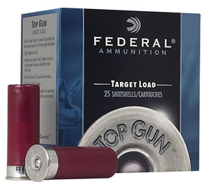 Federal Premium Top Gun Target TG209, 20 Gauge, 2 3/4 in, 7/8 oz, 1210 fps, #9 Lead Shot, 25 Rd/bx, Case of 10 Boxes
