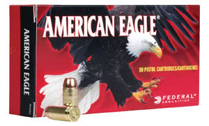 Federal American Eagle Ammunition AE25AP, 25 ACP, Metal Case, 50 GR, 760 fps, 50 Rd/bx
