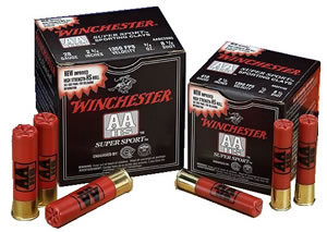 Winchester AA SuperSport Sporting Clays AASCL128, 12 Gauge, 2 3/4 in, 1 oz, 1350 fps, #8 Lead Shot, 25 Rd/bx, Case of 10 Boxes