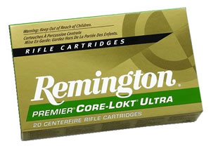Remington Premier Core-Lokt Ultra Bonded Rifle Ammunition PR7SM4, 7 MM Remington Short Action Ultra Mag, Core-Lokt Ultra Bonded, 160 GR, 2960 fps, 20 Rd/bx