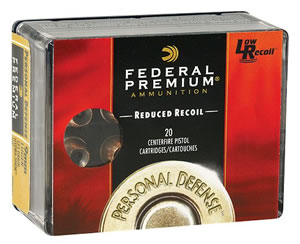 Federal Personal Defense Handgun Ammunition PD412JGE000, 410 Gauge, 2 1/2 in, 4 pellets, Buckshot, 850 fps, Shot #000 Buck, 20 Rd/bx