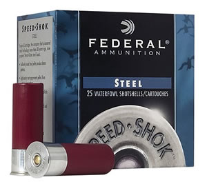 Federal Premium Speed Shok Waterfowl WF1402, 12 Gauge, 3 in, 1 1/4 oz, 1400 fps, #2 Steel Shot, 25 Rd/bx, Case of 10 Boxes