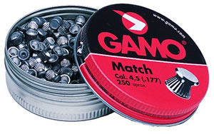 Gamo .177 Caliber Flat Nose Match Pellets/250 Count 632002454