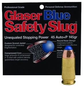 Glaser Blue Safety Slugs 03800, 44 Special, Round Nose, 135 GR, 1300 fps, 6 PK