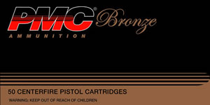 PMC Bronze Line Pistol/Revolver Ammunition 357A, 357 Remington Mag, Jacketed Soft Point, 158 GR, 1200 fps, 50 Rd/bx