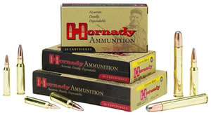 Hornady Rifle Ammunition 82304, 9.3X74R, Spire Point, 286 GR, 2360 fps, 20 Rd/bx