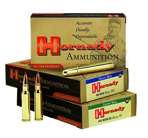 Hornady Rifle Ammunition 8232, 375 Ruger, Full Metal Jacket Round Nose, 300 GR, 2660 fps, 20 Rd/bx