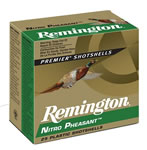 Remington Nitro Pheasant NP12M4, 12 Gauge, 2 3/4 in, 1 3/8 oz, 1300 fps, #4 Copper Plated Lead Shot, 25 Rd/bx, Case of 10 Boxes