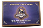 Hevishot Dead Coyote Shotshells 41009, 10 Gauge, 3 1/2 in, 1 3/4 oz, 1300 fps, #00 Buck Hevi-Shot, 5 Rd/bx