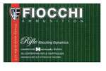 Fiocchi Shooting Dynamics Rifle Ammunition 243SPB, 243 Winchester, Pointed Soft Point, 70 GR, 3400 fps, 20 Rd/bx