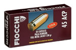 Fiocchi Shooting Dynamics Pistol Ammunition 45T, 45 ACP, Jacketed Hollow Point, 230 GR, 850 fps, 50 Rd/bx