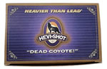 Hevishot Dead Coyote 42209, 12 Gauge, 2 3/4 in, 1 1/8 oz, 1250 fps, #00 Buck Buckshot Shot, 5 Rd/bx