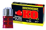 Brenneke SL-122KO, 12 Gauge, 2 3/4 in, 1 oz Slug, 1600 fps,For Rifled or Smooth Bore Barrels, 5 Rd/bx