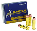 Magtech Handgun Hunting Ammunition 357D, 357 Remington Mag, Full Metal Jacket Flat Point, 158 GR, 1235 fps, 50 Rd/bx