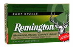 Remington Express Managed Recoil Copper Slug  RL12CS, 12 Gauge, 2 3/4 in, 1 oz, 1200 fps, Copper Sabot Slug, 5 Rd/bx
