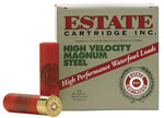Estate High Velocity Magnum Steel HVST124, 12 Gauge, 2 3/4 in, 1 1/8 oz, 1400 fps, #4 Steel Shot, 25 Rd/bx, Case of 10 Boxes