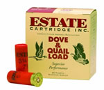 Estate Heavy Upland Game HG129, 12 Gauge, 2 3/4 in, 1 1/8 oz, 1255 fps, #9 Lead Shot, 25 Rd/bx, Case of 10 Boxes