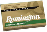 Remington Premier Match Rifle Ammunition RM308W8, 308 Winchester, Boat Tail Hollow Point/match, 175 GR, 2600 fps, 20 Rd/bx