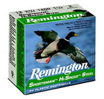 Remington Sportsman Hi-Speed Steel SST126, 12 Gauge, 2 3/4 in, 1 oz, 1365 fps, #6 Steel Shot, 25 Rd/bx, Case of 10 Boxes