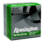 Remington Nitro Steel High Velocity NS12HVS4, 12 Gauge, 2 3/4 in, 1 1/8 oz, 1390 fps, #4 Steel Shot, 25 Rd/bx, Case of 10 Boxes