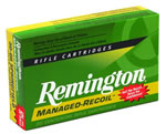 Remington Managed Recoil Rifle Ammunition RL308W1, 308 Winchester, Core-Lokt Pointed Soft Point, 125 GR, 2660 fps, 20 Rd/bx