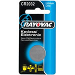 RayoVac KECR20321 CR2032 Lithium Keyless Entry Battery