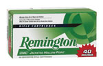Remington UMC Rifle Ammunition L308W4B, 308 Winchester, Metal Case, 150 GR, 40 Rd/bx