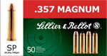 Sellier & Bellot Ammunition V311112U, 357 Remington Magnum (Mag), Soft Point, 158 GR, 1235 fps, 50 Rd/bx