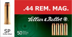 Sellier & Bellot Ammunition V311402U, 44 Remington Magnum, Soft Point, 240 GR, 1180 fps, 50 Rd/bx