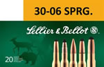 Sellier & Bellot Ammunition SB3006D 30-06 Springfield, Boat Tail Hollow Point, 168 GR, 2692 fps, 20 Rd/bx