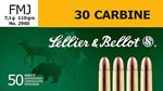 Sellier & Bellot Ammunition SB30A 30 Carbine, Full Metal Jacket, 110 GR, 1991 fps, 50 Rd/bx