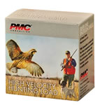 PMC High Velocity Hunting Loads HV124, 12 Gauge, 2 3/4 in, 1 1/4 oz, 1400 fps, #4 Lead Shot, 25 Rd/bx, Case of 10 Boxes