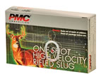 PMC One Shot High Velocity Rifled Slug HV12RS, 12 Gauge, 2 3/4 in, 1 oz, 1600 fps, Rifled Slug Shot, 5 Rd/bx
