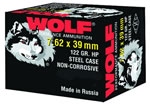 Wolf Ammo 762BHP, 7.62 X 39 MM, Hollow Point, 122 GR, Bimetal, 2396 fps, 1000 Rds/box