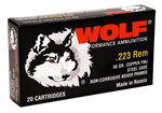 Wolf Ammo 762HPTINS, 7.62x39 mm, Hollow Point, 122 GR, 2396 fps, 20 Rd/bx