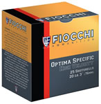 Fiocchi High Velocity Shotshells 203HV8, 20 Gauge, 3 in, 1 1/4 oz, 1220 fps, #8 Lead Shot, 25 Rd/bx, Case of 10 Boxes