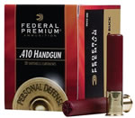 Federal Premium Personal Defense The Judge Handgun Ammunition PD413JGE4B, 410 Gauge, 3 in, 9 Pellets, 1100 fps, #4 Buckshot, 20 Rd/bx