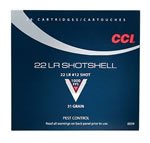 CCI Shotshell Rimfire Ammunition 0039, 22 Long Rifle, #12 Shot, 31 GR, 1000 fps, 20 Rd/bx