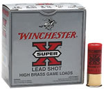 Winchester Super X High Brass Game Load X124, 12 Gauge, 2 3/4 in, 1 1/4 oz, 1330 fps, #4 Lead Shot, 25 Rd/bx, Case of 10 Boxes
