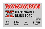 Winchester XBP12, 12 GA, Black Powder Blank, 25 Rd/bx, Case of 10 Boxes