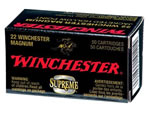 Winchester Super X Rimfire Ammunition X22MHLF, 22 Winchester Magnum, Jacketed Hollow Point, 28 GR, 2200 fps, 50 Rd/bx