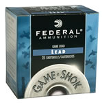 Federal Premium Game Shok Heavy Field H20275, 20 Gauge, 2 3/4 in, 1 oz, 1165 fps, #7 1/2 Lead Shot, 25 Rd/bx, Case of 10 Boxes