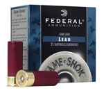 Federal Premium Game Shok High Brass H1264, 12 Gauge, 2 3/4 in, 1 1/4 oz, 1330 fps, #4 Lead Shot, 25 Rd/bx, Case of 10 Boxes