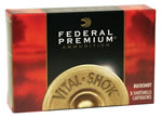 Federal Premium Vital Shok P2582B, 20 Gauge, 3 in, 18 Pellets, 1175 fps, #2 Copper Plated Lead Buckshot, 5 Rd/bx
