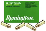 Remington Rimfire Ammunition 1522, 22 Long Rifle, Plated Lead Round Nose, 40 GR, 1255 fps, 50 Rd/bx