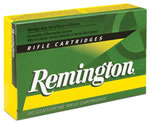 Remington Centerfire Rifle Cartridges R222R1, 222 Remington, Pointed Soft Point, 50 GR, 3140 fps, 20 Rd/bx